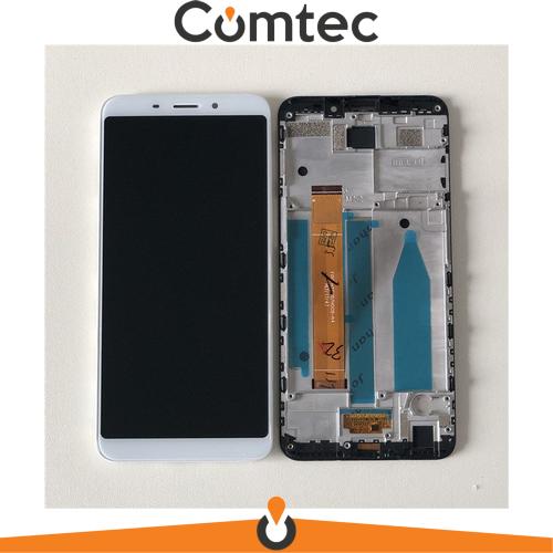 Дисплей для Meizu M6s (M712H/M712Q) с тачскрином (Модуль) белый, с передней панелью (рамкой)