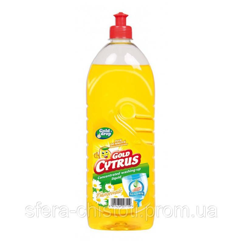 Средство для мытья посуды GOLD CITRUS Ромашка 1 л
