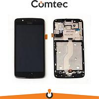 Дисплей для Motorola XT1670 Moto G5/XT1672/XT1675/XT1676 с тачскрином (Модуль) черный, с передней панелью (рамкой)
