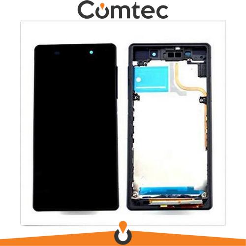 Дисплей для Sony D6502 Xperia Z2 L50W/D6503 с тачскрином (Модуль) черный, с передней панелью (рамкой), оригинал