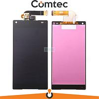 Дисплей для Sony E5803 Xperia Z5 Compact/E5823 с тачскрином (Модуль) черный, оригинал