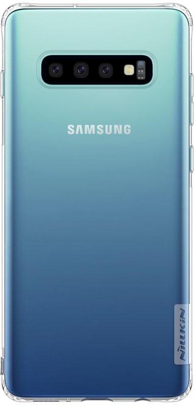 Чехол-накладка Nillkin TPU Nature case Samsung Galaxy S10+ Transparent