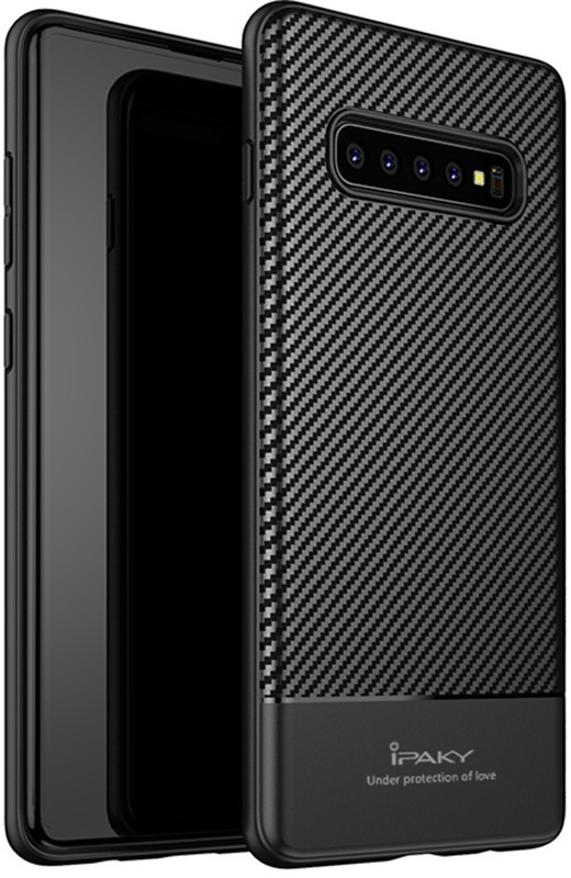Чехол-накладка Ipaky Carbon Fiber Series/TPU Case With Carbon Fiber Samsung Galaxy S10e Black