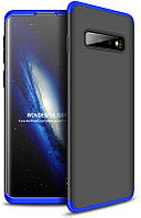 Чехол-накладка GKK 3 in 1 Hard PC Case Samsung Galaxy S10 Blue/Black