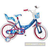 Велосипед Disney страна льда 16 сине-розовый