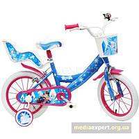 Велосипед Disney страна льда 14 сине-розовый