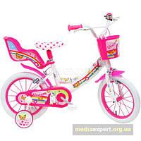 Велосипед Disney единорог 14 бело-розовый