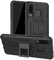 Чехол-накладка TOTO Dazzle Kickstand 2 in 1 Case Samsung Galaxy A30s/A50/A50s Black