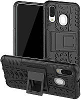Чехол-накладка TOTO Dazzle Kickstand 2 in 1 Case Samsung Galaxy A40 Black
