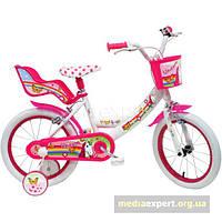 Велосипед Disney Unicorn 16 бело-розовый