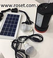 Фонарь ручной светодиодный Yajia YJ-1902T с солнечной панелью и USB Power Bank