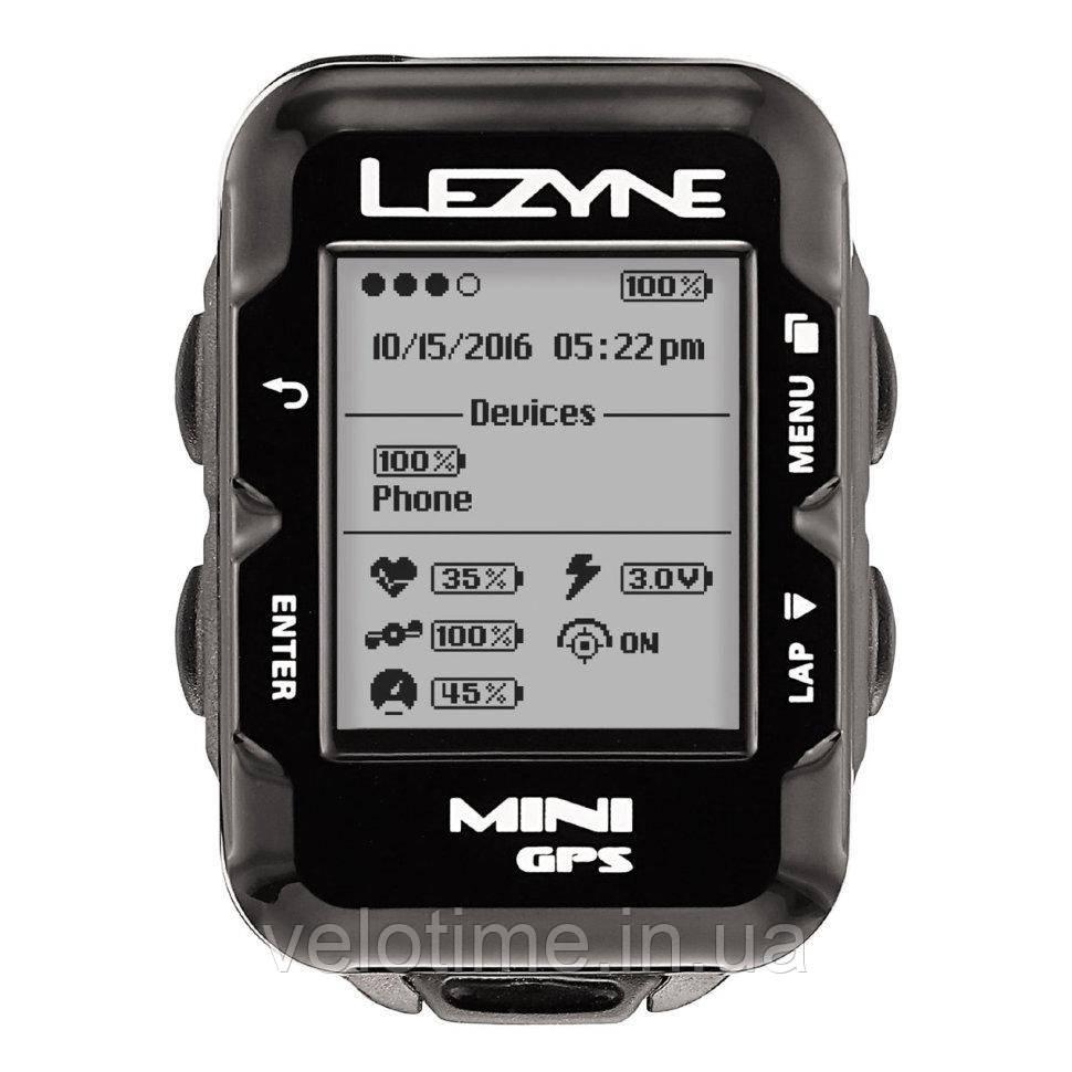 GPS компьютер Lezyne MINI GPS HR LOADED  (черный)