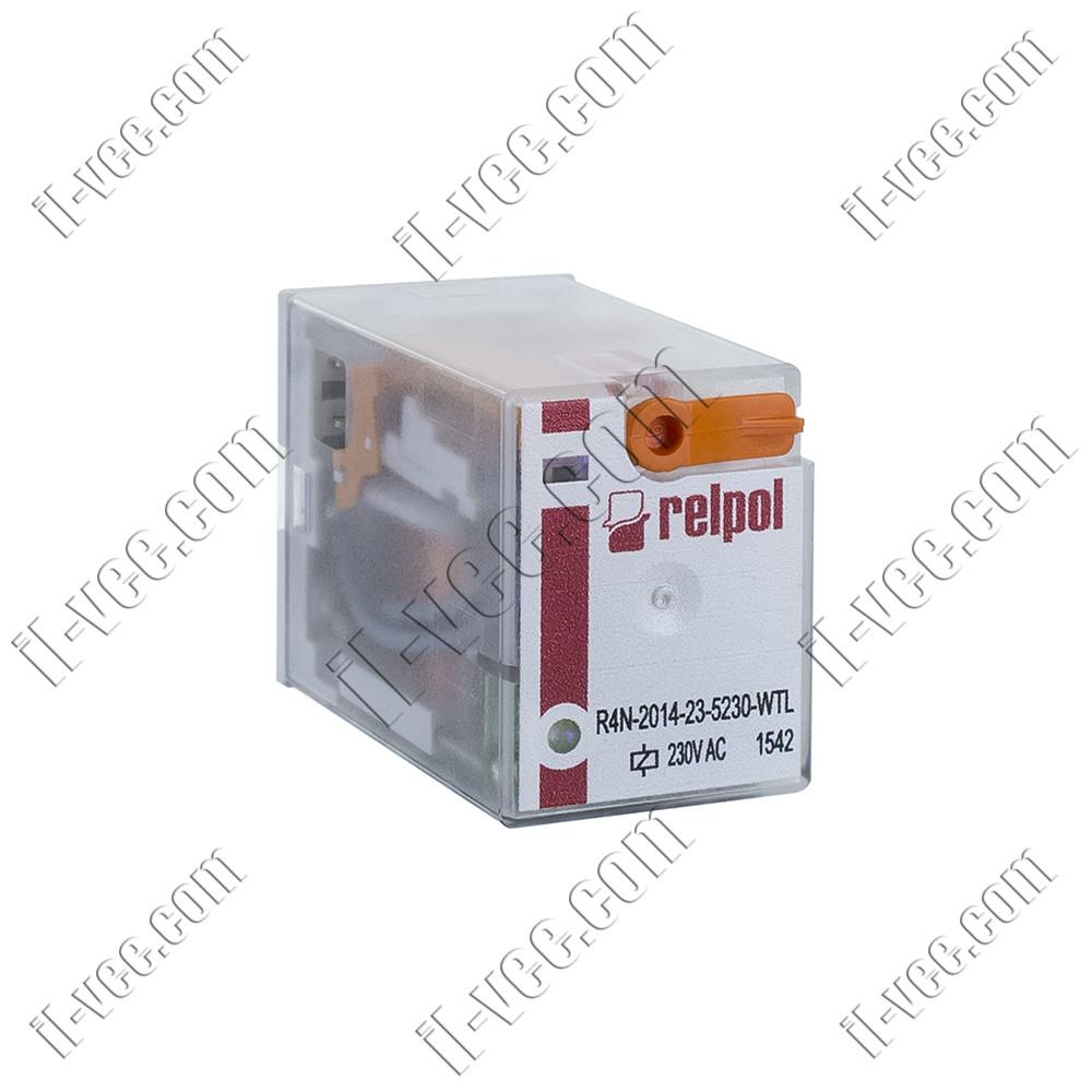 Реле Relpol R4N-2014-23-5230-WTL, 230VAC, 12А/250VAC 12А/30VDC