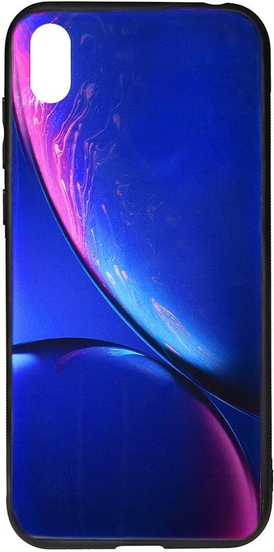 Чехол-накладка TOTO Print Glass Space Case Xiaomi Redmi 7A Blue