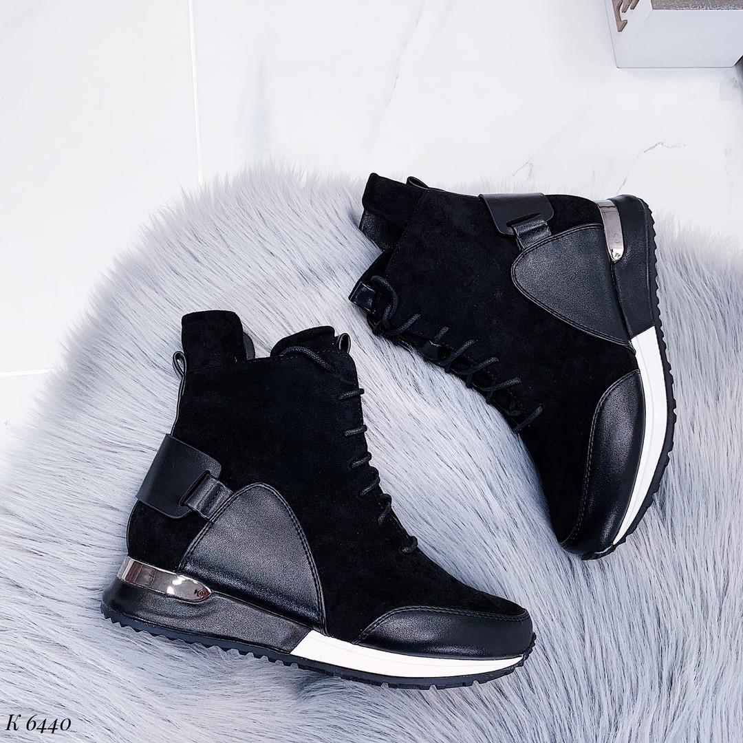 Осенние ботинки женские без каблука