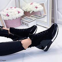 Осенние ботинки женские без каблука, фото 3