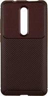 Чехол-накладка Ipaky Carbon Fiber Series/Soft TPU Case Xiaomi Mi 9T/Mi 9T Pro/Redmi K20/K20 Pro Brown