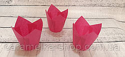 Формы бумажные для кексов Тюльпан 50*75 мм, Розовый