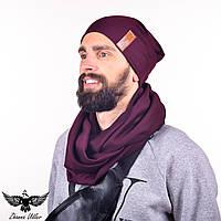Набор: шапка + шарф-снуд. unisex, фото 1