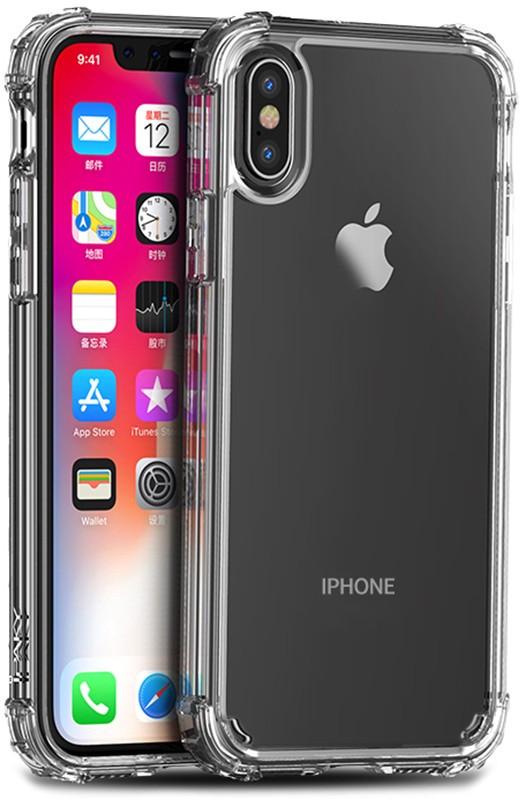 Чехол-накладка Ipaky Crystal Series/TPU Frame With Transparent PC Case Apple iPhone X/XS Transparent