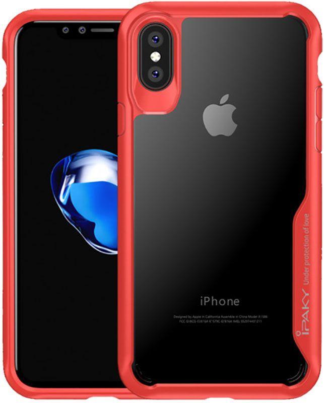 Чехол-накладка Ipaky Cucoloris Series/TPU Frame Anti-Scratch PC Case iPhone X Red