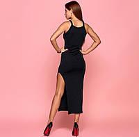 Платье силуэтное с разрезом June Your Style 44-46 Черное