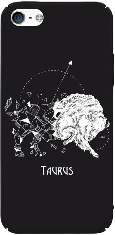Чехол-накладка TOTO Full PC Print Case Apple iPhone SE/5s/5 #172_Taurus Black