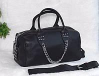 Кожаная сумка в виде саквояжа, фото 1