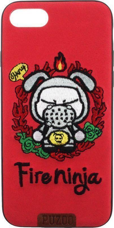 Чехол-накладка PUZOO TPU+TPU with stitchwork craft Star show iPhone 7/8 Red Fireninja