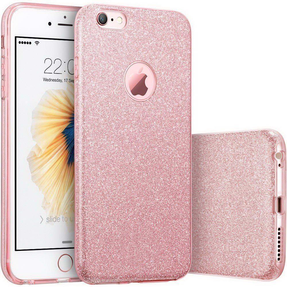 Чехол-накладка TOTO TPU Shine Case iPhone 7 Plus Rose Gold