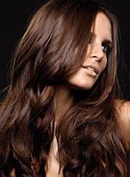 Натуральные волосы на заколках 120г 60см коричневый (#2)