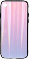 Чехол-накладка TOTO Aurora Print Glass Case Apple iPhone 6/6S Lilac