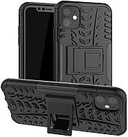 Чехол-накладка TOTO Dazzle Kickstand 2 in 1 Case Apple iPhone 11 Black