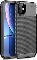 Чехол-накладка TOTO TPU Carbon Fiber 1,5mm Case Apple iPhone 11 Black