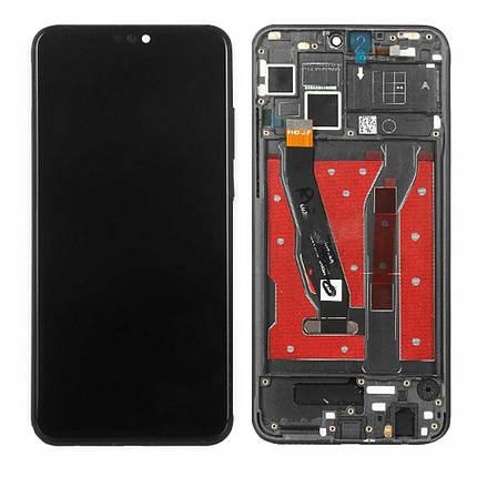 Дисплей (экран) для Huawei Honor View 10 Lite с сенсором (тачскрином) и рамкой черный Оригинал, фото 2