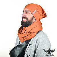 Набор шапка и шарф-снуд. Unisex, фото 1