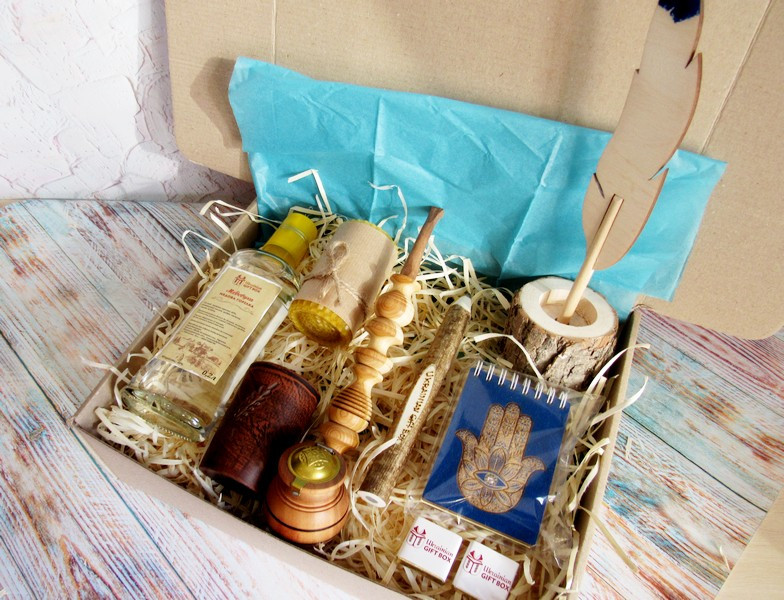 "Подарок мужчинам - набор ""Хомса"" с медовухой"