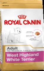 Royal Canin WESTIE ADULT 3кг корм для собак породы вест-хайленд-уайт-терьер возрасте старше 10 мес
