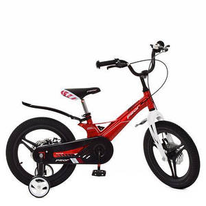 Детский красный велосипед PROF1 16д LMG16233 2х колесный