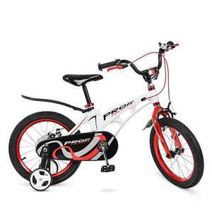 Велосипед детский PROF1 18д LMG18202 боковые колеса звонок