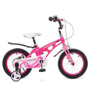 Велосипед для девочки PROF1 LMG16203 малиново-розовый колеса 16 дюймов