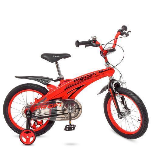 """Стильный двухколесный детский велосипед PROFI Projective 16"""" LMG16123 красный"""