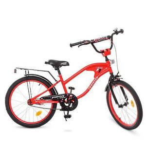 Велосипед детский красный PROF1 TRAVELER Y20181 20 дюймов звонок подножка