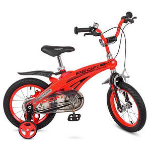 Детский 2-х колесный велосипед с дополнительными колесами PROF1 Projective LMG14123