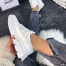Кроссовки белые сетка, фото 2