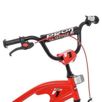 """Детский велосипед красный двухколесный PROF1 Y16181 16"""" TRAVELER, фото 2"""