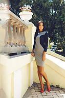 Умное платье серый+черный