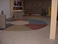 Шлифованный бетонный пол. Полированный бетонный пол.