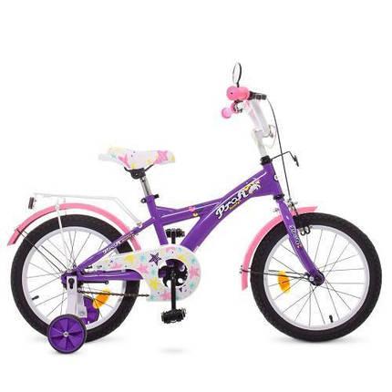 """Детский велосипед PROF1 16"""" T1663 2-х колесный фиолетово-розовый, фото 2"""