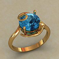 Женское кольцо с камнем
